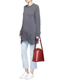 Stella McCartneyFloral hem chunky knit wool blend sweater