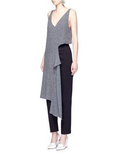 Stella McCartneyAsymmetric cutout wool knit tunic
