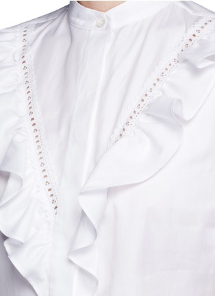 Detail View - Click To Enlarge - Stella McCartney - Ruffle lace trim shirt dress