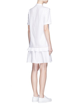 Back View - Click To Enlarge - Stella McCartney - Ruffle lace trim shirt dress