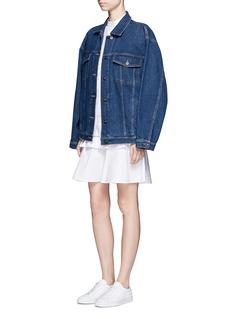 Stella McCartneyRuffle lace trim shirt dress