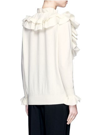 Back View - Click To Enlarge - Stella McCartney - Ruffle trim felted virgin wool sweater