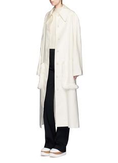 Stella McCartneyFringed belted long wool coat