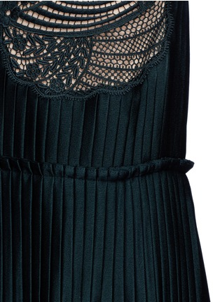 Detail View - Click To Enlarge - Stella McCartney - Floral lace sable satin dress