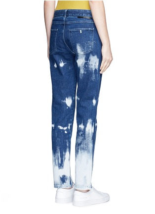 Back View - Click To Enlarge - Stella McCartney - Embroidered acid wash skinny boyfriend jeans