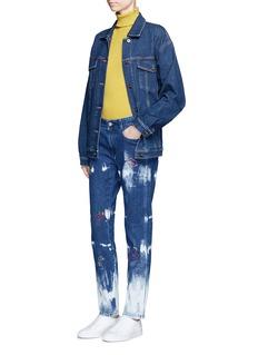 Stella McCartneyEmbroidered acid wash skinny boyfriend jeans