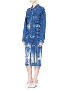 Stella McCartneyCrisscross bungee tie dye denim dress