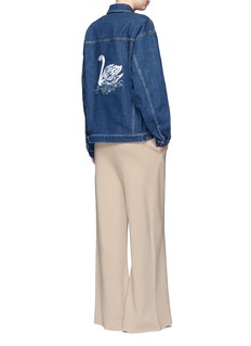 Stella McCartneySwan embroidered cotton denim jacket