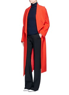 Stella McCartney Oversized wool blend melton coat
