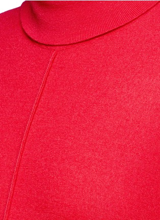 Detail View - Click To Enlarge - Stella McCartney - Virgin wool turtleneck maxi sweater dress