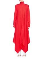 Virgin wool turtleneck maxi sweater dress