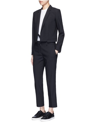 Figure View - Click To Enlarge - Helmut Lang - Crossbody strap cutoff pocket wool blazer