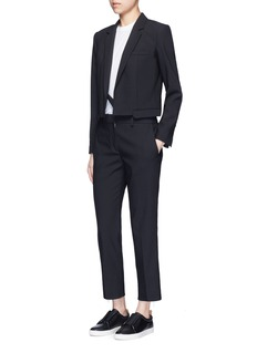 HELMUT LANG Crossbody strap cutoff pocket wool blazer