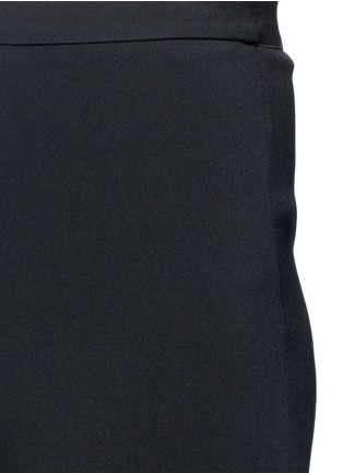 Detail View - Click To Enlarge - Helmut Lang - Elastic waist mock fly flare pants