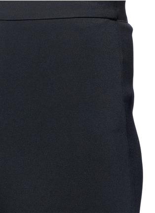 细节 - 点击放大 - HELMUT LANG - 弹性绉绸喇叭裤