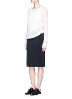 Helmut Lang'Scura' front slit neoprene pencil skirt