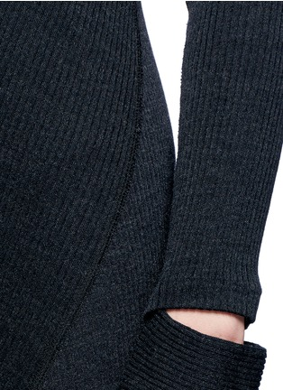 Detail View - Click To Enlarge - Helmut Lang - Detached cuff virgin wool blend knit dress
