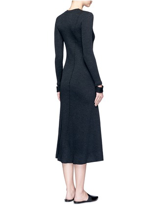 Back View - Click To Enlarge - Helmut Lang - Detached cuff virgin wool blend knit dress