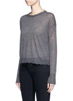 Raw edge fine cashmere sweater