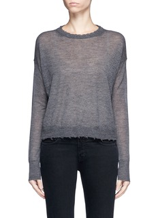 Helmut Lang Raw edge fine cashmere sweater