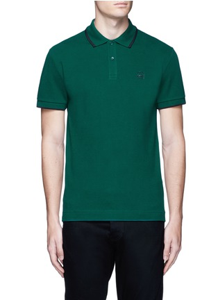 Main View - Click To Enlarge - McQ Alexander McQueen - Logo print cotton polo shirt