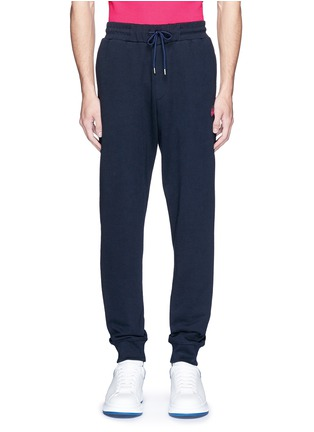 Main View - Click To Enlarge - McQ Alexander McQueen - Swallow skull patch appliqué sweatpants