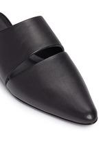 'Livre' cutout leather mules