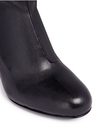Detail View - Click To Enlarge - Opening Ceremony - 'Zloty' metallic heel leather mid calf boots