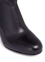 'Zloty' metallic heel leather mid calf boots