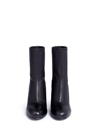 Front View - Click To Enlarge - Opening Ceremony - 'Zloty' metallic heel leather mid calf boots