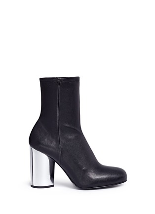 Main View - Click To Enlarge - Opening Ceremony - 'Zloty' metallic heel leather mid calf boots