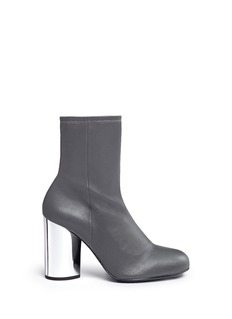 Opening Ceremony 'Zloty' metallic heel leather mid calf boots