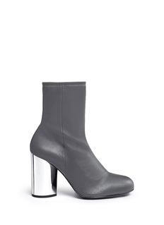 Opening Ceremony'Zloty' metallic heel leather mid calf boots