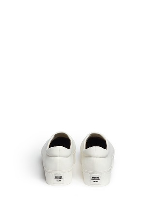Back View - Click To Enlarge - Opening Ceremony - 'Cici' twill flatform skate slip-ons