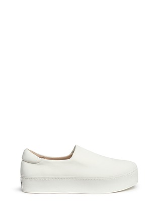 Main View - Click To Enlarge - Opening Ceremony - 'Cici' twill flatform skate slip-ons