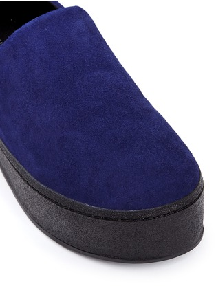 Detail View - Click To Enlarge - Opening Ceremony - 'Cici' suede flatform skate slip-ons