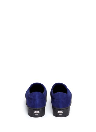Back View - Click To Enlarge - Opening Ceremony - 'Cici' suede flatform skate slip-ons