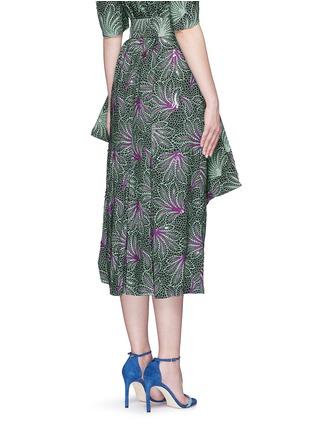 Back View - Click To Enlarge - Dries Van Noten - ''Sar' sequin embellished leaf print drape bow belt