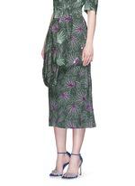 ''Sar' sequin embellished leaf print drape bow belt