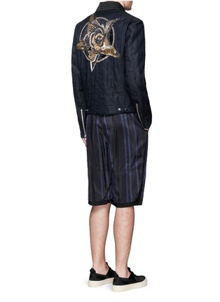 Figure View - Click To Enlarge - Dries Van Noten - 'Vale' embellished cotton biker jacket