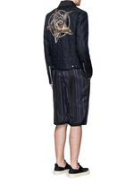 'Vale' embellished cotton biker jacket