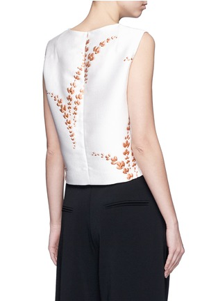 Back View - Click To Enlarge - Dries Van Noten - 'Caitlin' metallic floral jacquard sleeveless top