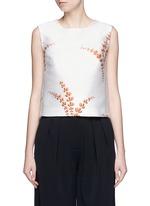 'Caitlin' metallic floral jacquard sleeveless top