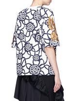 'Columbus' firework sequin embroidery cotton twill sweatshirt