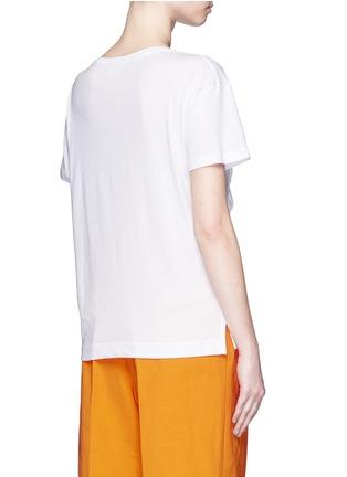 Back View - Click To Enlarge - Dries Van Noten - 'Hazim' diagonal ruffle trim jersey T-shirt