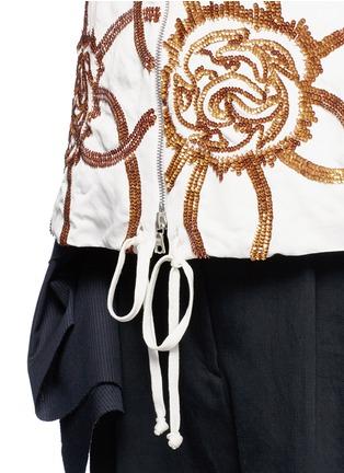 Detail View - Click To Enlarge - Dries Van Noten - 'Vance' floral sequin bomber jacket