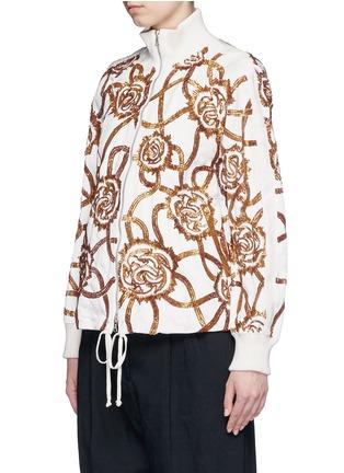 Front View - Click To Enlarge - Dries Van Noten - 'Vance' floral sequin bomber jacket