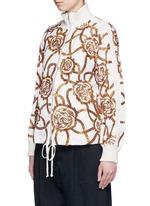 'Vance' floral sequin bomber jacket