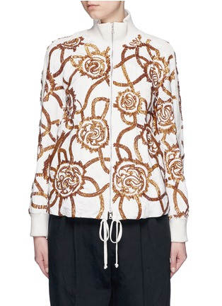 Main View - Click To Enlarge - Dries Van Noten - 'Vance' floral sequin bomber jacket