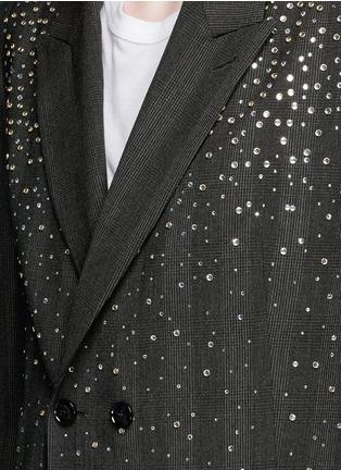 细节 - 点击放大 - DRIES VAN NOTEN - 仿水晶格纹羊毛大衣